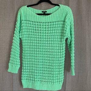 Mint Green Knit Sweater (Loose knit)